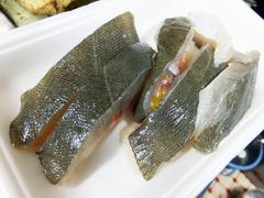 1月のヒラメの刺身とアラのから揚げ (16).JPG